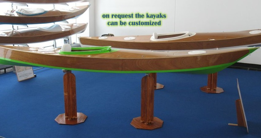 On request the kayaks can be customized